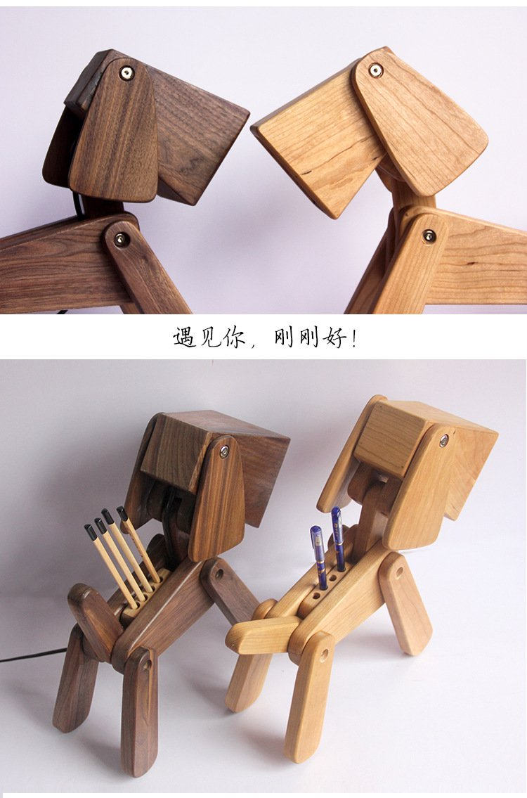 Wooden Dog Table Lamp Instructions for use