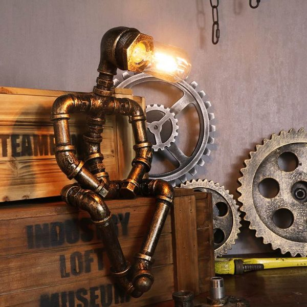 steampunk table lamp sitting